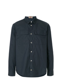 Camisa de manga larga azul marino de MSGM