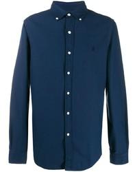 Camisa de manga larga azul marino de Ralph Lauren