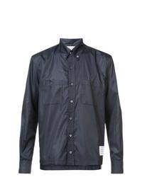 Camisa de Manga Larga Azul Marino de Thom Browne