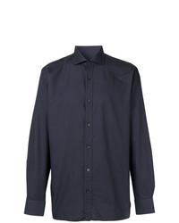 Camisa de manga larga azul marino de Z Zegna