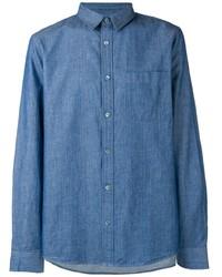 Camisa de manga larga azul de A.P.C.