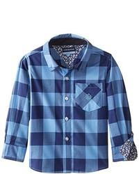 Camisa de Manga Larga Azul de Andy & Evan
