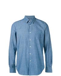Camisa de manga larga azul de Aspesi