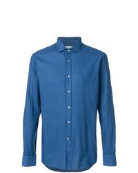 Camisa de Manga Larga Azul de Bagutta