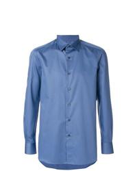 Camisa de manga larga azul de Boglioli