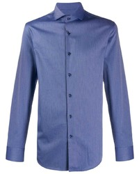 Camisa de manga larga azul de BOSS HUGO BOSS