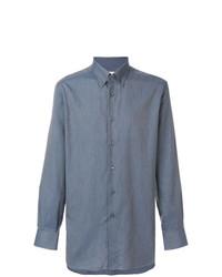 Camisa de Manga Larga Azul de Brioni