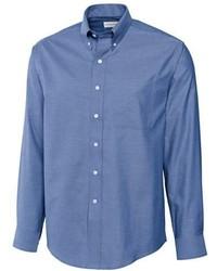Camisa de Manga Larga Azul de Cutter & Buck