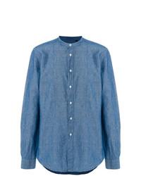 Camisa de manga larga azul de Dell'oglio