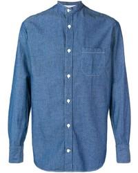 Camisa de manga larga azul de Eleventy