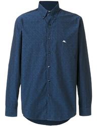 Camisa de Manga Larga Azul de Etro