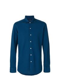 Camisa de Manga Larga Azul de Fay