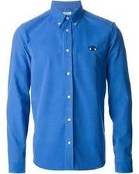 Camisa de Manga Larga Azul de Kenzo
