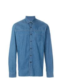 Camisa de manga larga azul de Lanvin