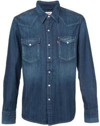 Camisa de Manga Larga Azul de Levi's