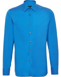Camisa de manga larga azul de Prada