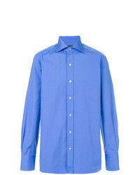 Camisa de manga larga azul de Tom Ford