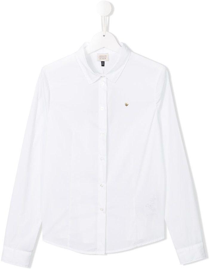 Camisa de Manga Larga Blanca de Armani Junior
