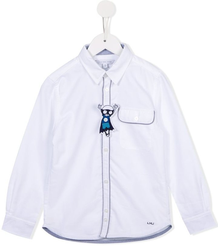 Camisa de manga larga blanca de Little Marc Jacobs