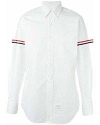 Camisa de manga larga blanca de Thom Browne