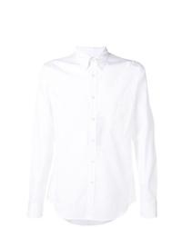 Camisa de manga larga bordada blanca de Alexander McQueen