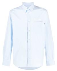 Camisa de manga larga bordada celeste de MSGM