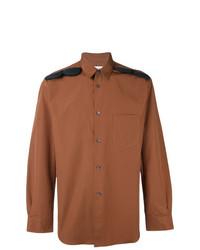 Camisa de manga larga bordada en tabaco de Comme Des Garcons SHIRT