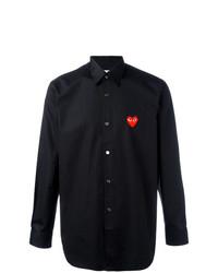 Camisa de manga larga bordada negra de Comme Des Garcons Play