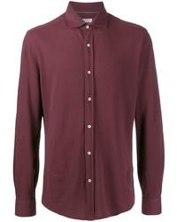 Camisa de manga larga burdeos de Brunello Cucinelli