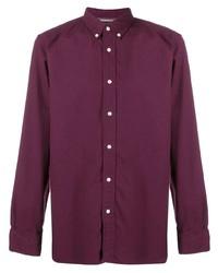 Camisa de manga larga burdeos de Tommy Hilfiger