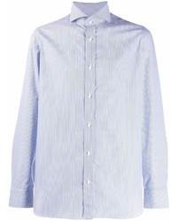 Camisa de manga larga celeste de Borrelli