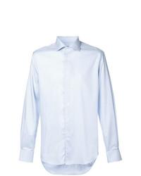 Camisa de manga larga celeste de Corneliani
