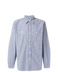 Camisa de manga larga celeste de Engineered Garments