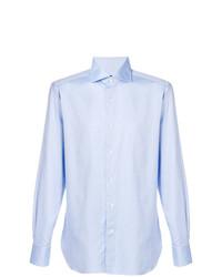 Camisa de manga larga celeste de Ermenegildo Zegna