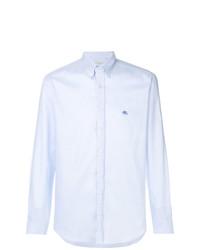 Camisa de manga larga celeste de Etro
