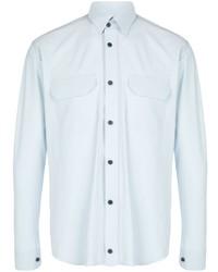 Camisa de manga larga celeste de GR10K