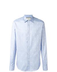 Camisa de manga larga celeste de Gucci