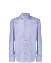 Camisa de manga larga celeste de Kiton