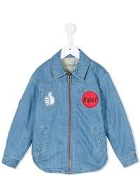Camisa de manga larga celeste de Stella McCartney