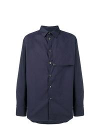 Camisa de manga larga con adornos azul marino de Kenzo