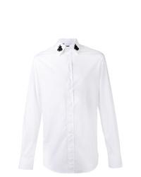 Camisa de manga larga con adornos blanca de Dolce & Gabbana