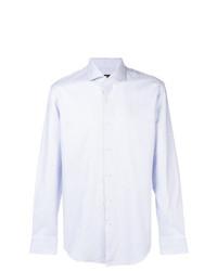Camisa de manga larga con estampado geométrico celeste de BOSS HUGO BOSS