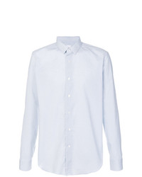 Camisa de manga larga con estampado geométrico celeste de Xacus