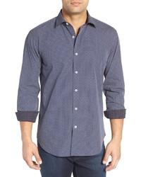 Camisa de manga larga con estampado geométrico
