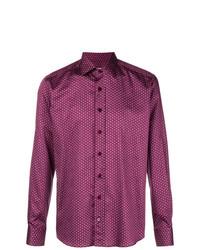 Camisa de manga larga con estampado geométrico rosa de Etro