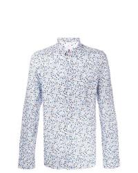 Camisa de manga larga con print de flores celeste de Ps By Paul Smith