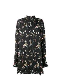 Camisa de manga larga con print de flores negra de Haider Ackermann