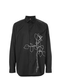Camisa de manga larga con print de flores negra de Oamc