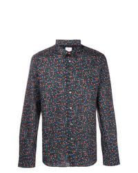 Camisa de manga larga con print de flores negra de Ps By Paul Smith