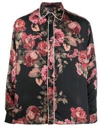 Camisa de manga larga con print de flores negra de Represent
